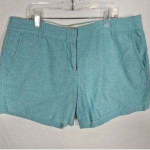 J.Crew City Fit  Shorts Size 8 Teal Green Cotton